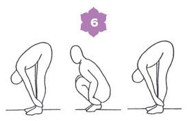 Sequenza disintossicante - sesta posizione