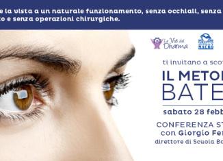 Conferenza Stampa di presentazione del Metodo Bates per la vista