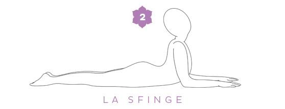 La posizione della sfinge - Sequenza yoga per il mal di schiena