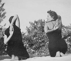 Indra Devi in California nel 1950