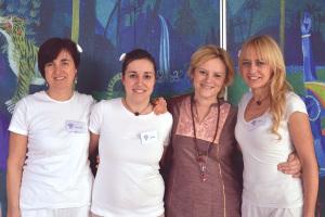 Isabella, Sofia, Morena e Susi, il team ayurvedico del Centro Le Vie del Dharma di Cesena e del Centro Lilà di Bellaria.