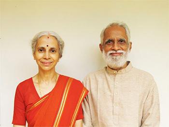 A.G. Mohan e la moglie Indra