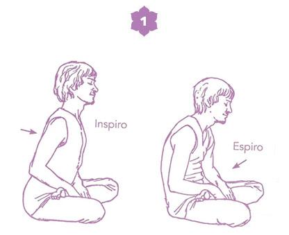 Sequenza yoga per l'energia della spina dorsale - posizione 1