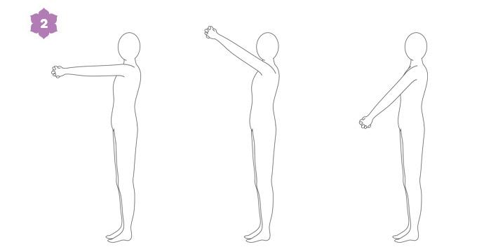 Breathwalk: esercizio di risveglio 1