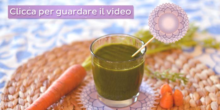 estratto carota spinaci
