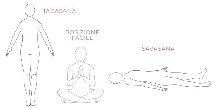 Posizioni yoga per il rilassamento e per concentrarsi sul respiro