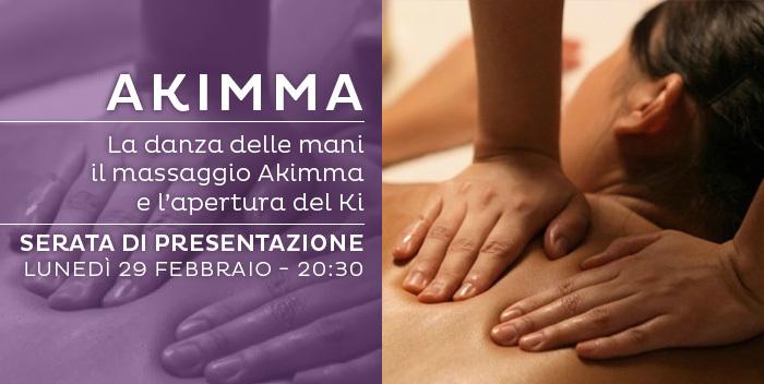 serata di presentazione di massaggio Akimma a Cesena
