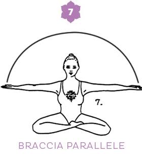 Fase 7: braccia parallele