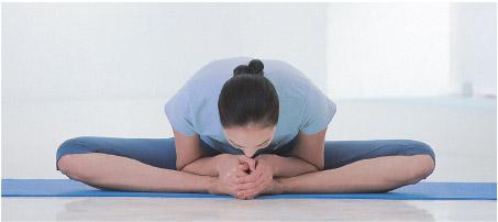 posizione yoga della farfalla piegata