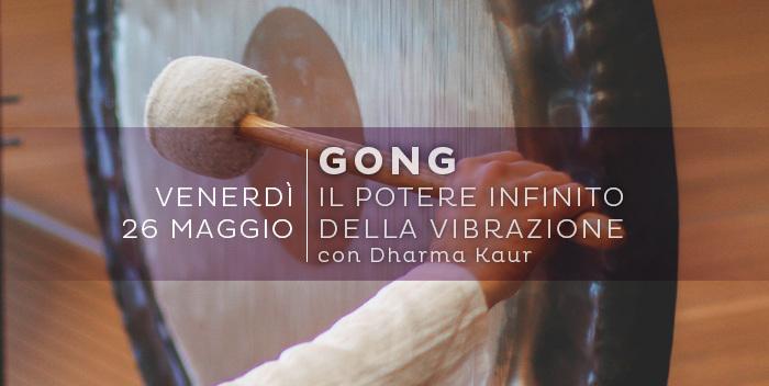 bagno sonoro con il gong a Cesena