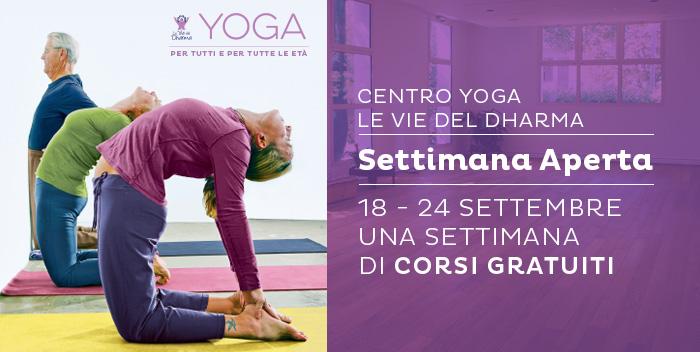 Dal 18 al 24 settembre prova i corsi del Centro Yoga Le Vie del Dharma