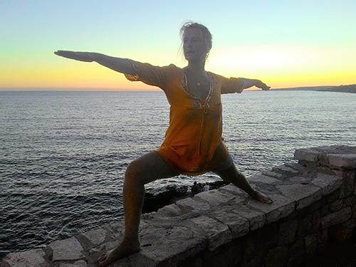 Giulia Coliola insegnante di yoga