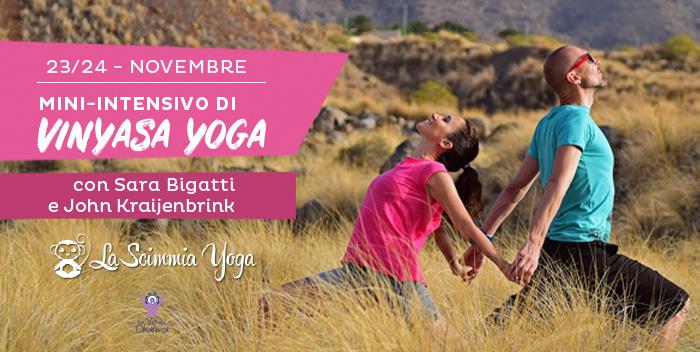Mini intensivo di vinyasa yoga con Sara Bigatti di La Scimmia Yoga
