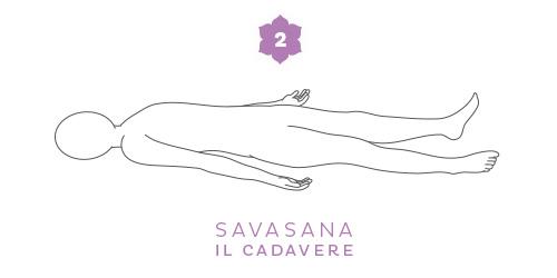 Savasana, la posizione del cadavere