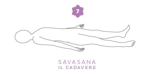 Savasana, posizione di rilassamento