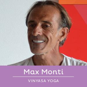 Max Monti, insegnante di Vinyasa Yoga