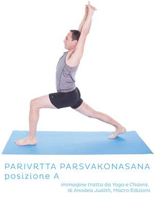 Parivrtta Parsvakonasana, posizione A