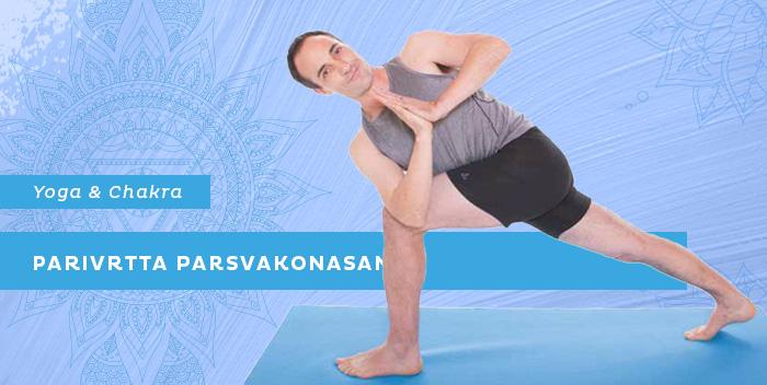 Parivrtta Parsvakonasana, la posizione dell'angolo laterale ruotato