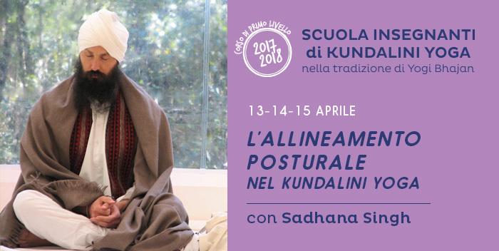 Seminario: allineamento postulare nel kundalini yoga, con Sadhana Singh