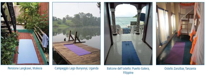 Fare yoga in viaggio: dove stendere il tappetino